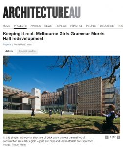 Clive Steele Partners, Melbourne Girls Grammar, Morris Hall Development, Structural and Civil Engineering